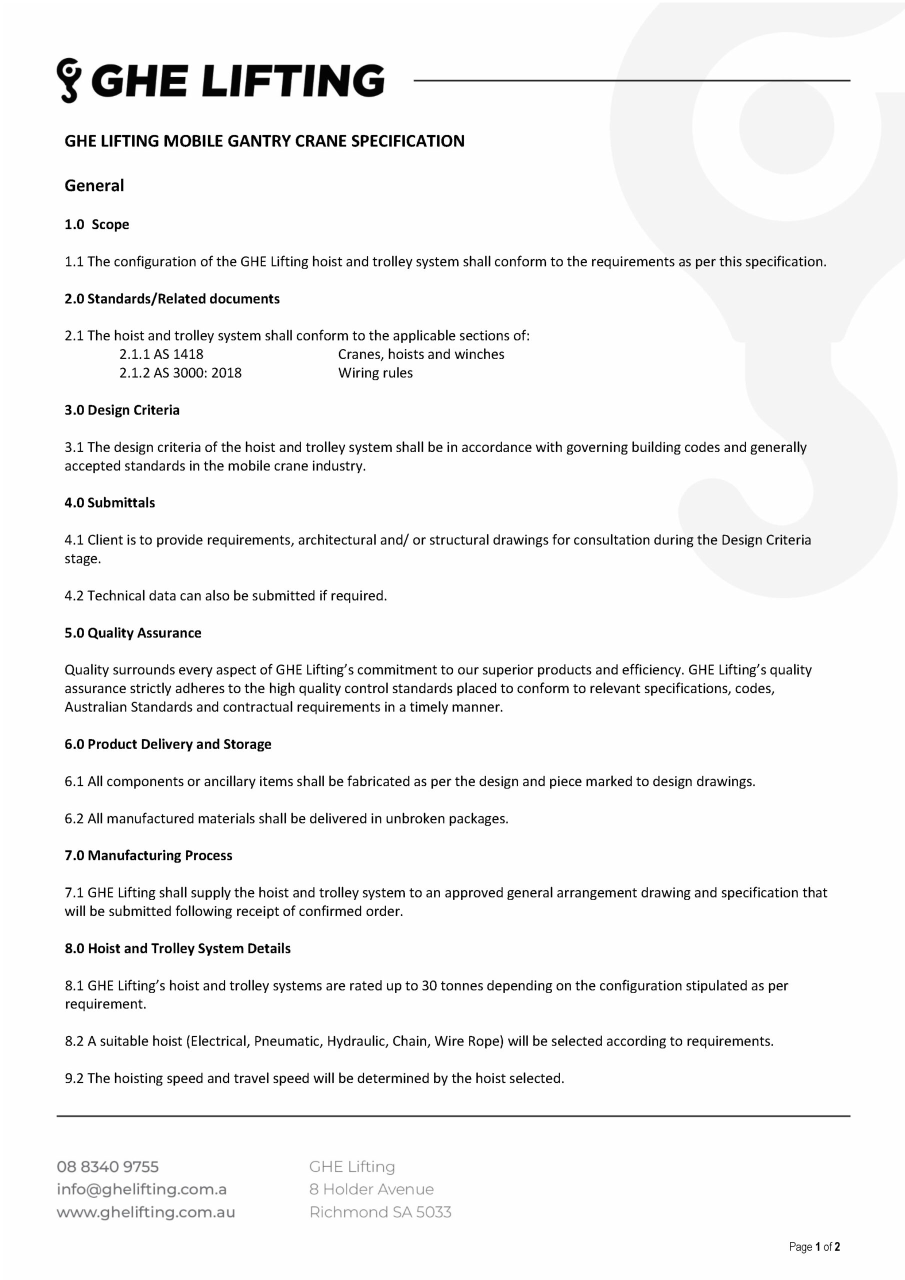 Hoist and Trolley Specification_Page_1