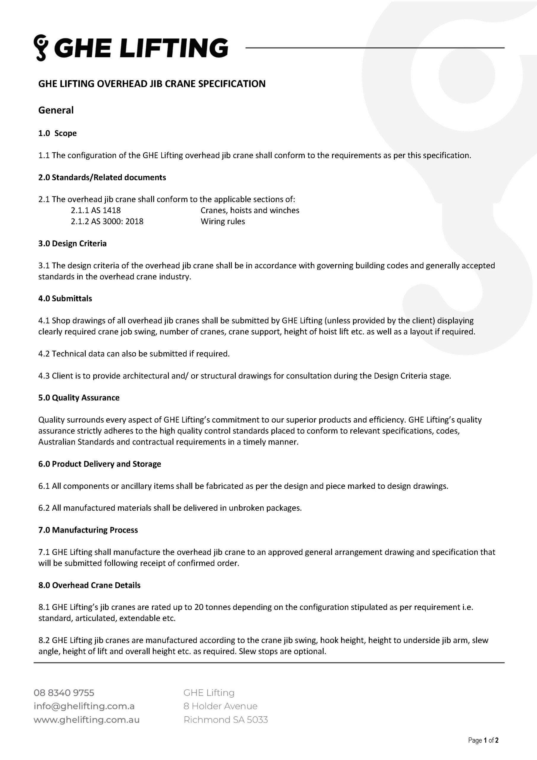 Overhead Jib Crane Specification_Page_1